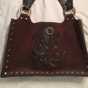 Express Suede Brown Handbag